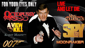 Roger Moore - 007 wp by SWFan1977