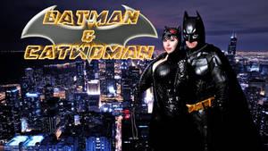 Batman and Catwoman Cosplay wallpaper