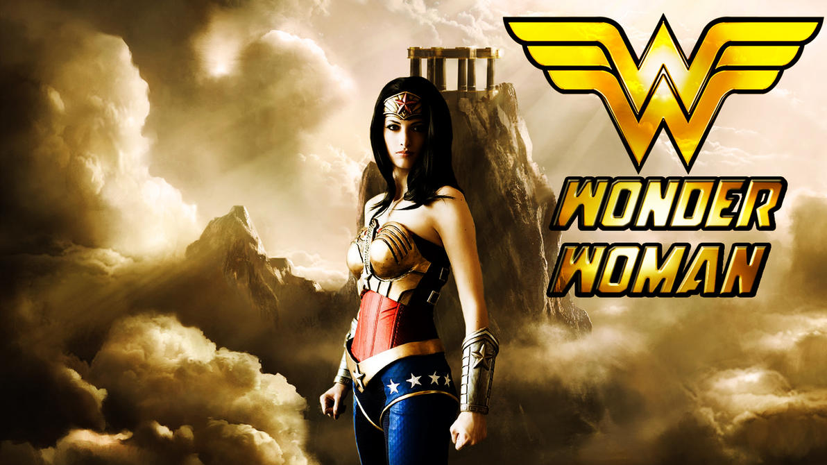 Wonder Woman cosplay wp starring Katie George by SWFan1977