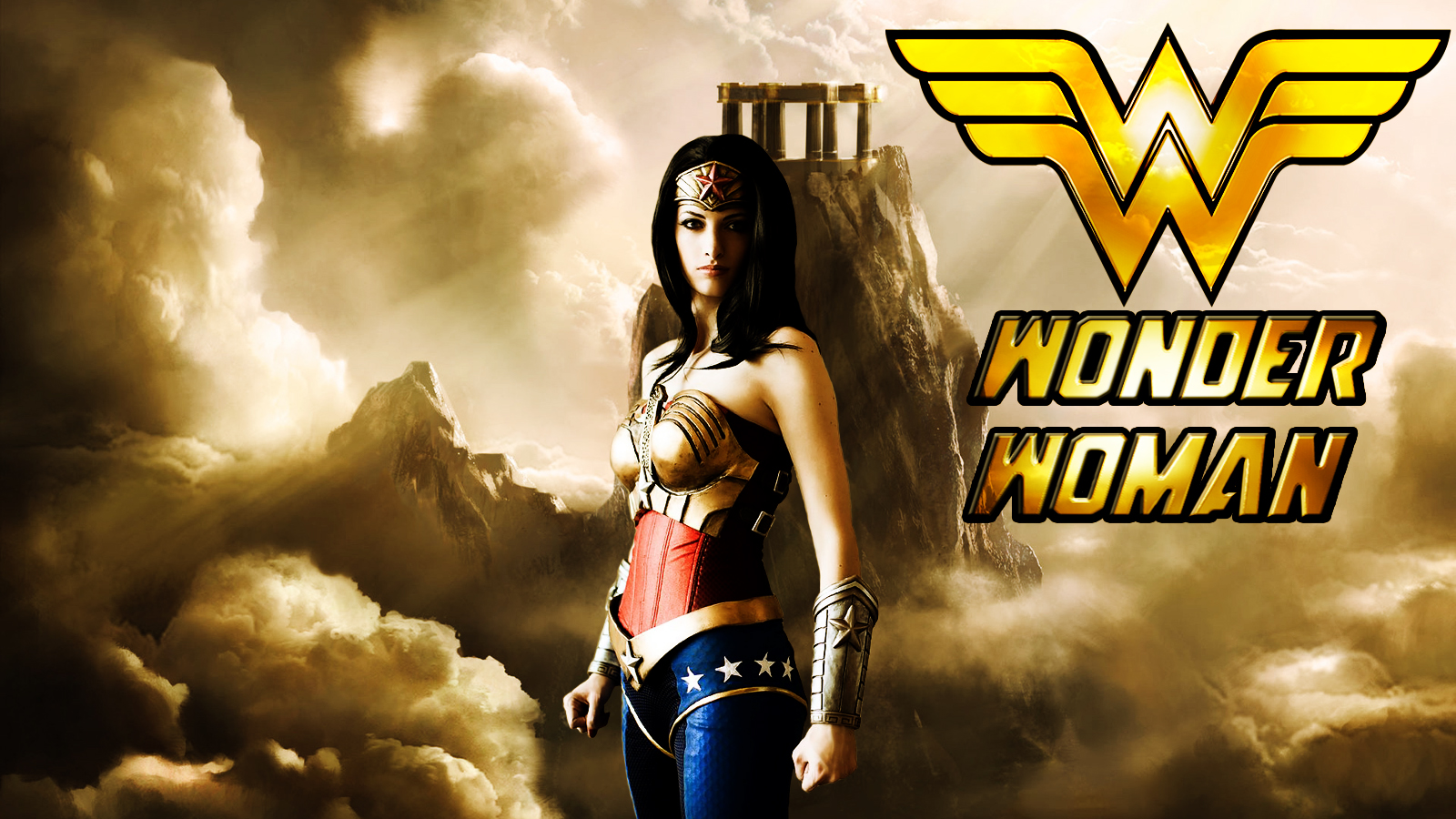 Wonder Woman cosplay wp starring Katie George by SWFan1977
