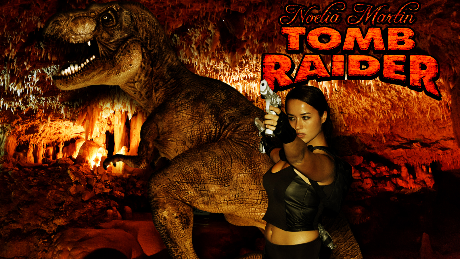 Tomb Raider cosplay wp starring Noelia Martin by SWFan1977
