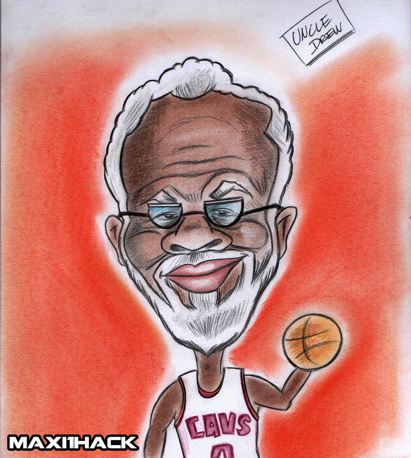 Uncle Drew Kyrie Irving Caricatura By Maxi1hack