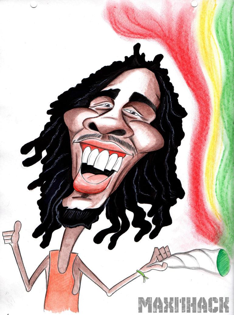 caricatura Bob Marley by maxi1hack
