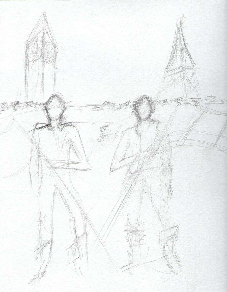 Sketch Dump France and UK by Asriel-the-Wanderer