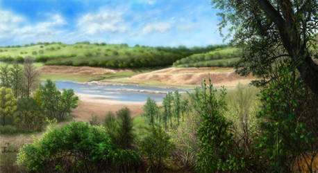 Hill side along the river by abyss1956