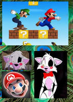 (collage Request) Mangle And Super Mario Bros by LylianaCat