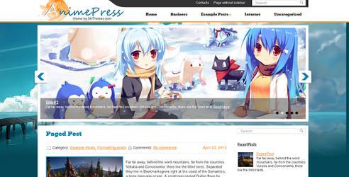 AnimePress Free WordPress Theme by wpwk