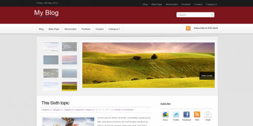 RedMagazine Free Premium Wordpress Theme by wpwk