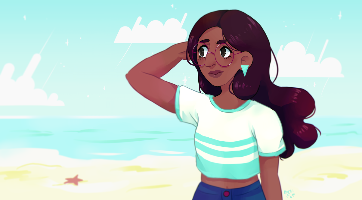 Connie at the beach~ (sorry, I only draw Steven Universe stuff lately, don't I? :'D) here's a speedpaint 4 u!! Time: 3h Tools: Manga Studio, PS, Intuos Pro M