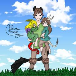 Una, Hiccup, Boden Dragon Children