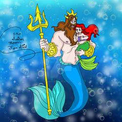 Mermay Art Challenge 2021 King Triton Ariel: Day 9
