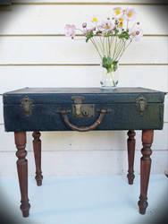 Vintage Suitcase Table by xanda-joy