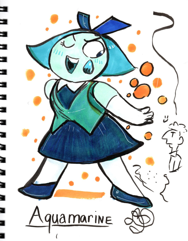 Based on the Steven Universe Character: Aquamarine