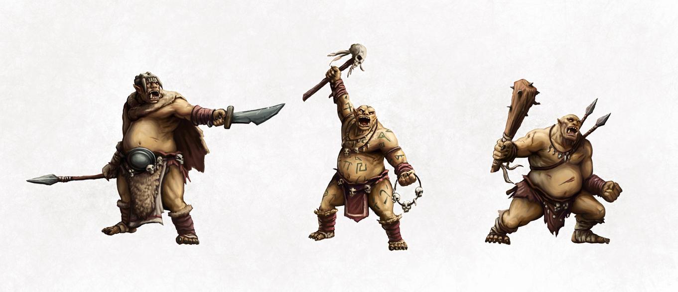 Paper Minatures - Ogres by SHAWCJ