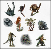 Southland Bestiary - Monsters by joeshawcross