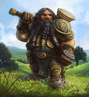 Brenwar the Dwarf by joeshawcross