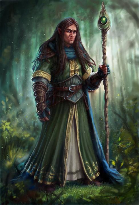 Half-Elf Wizard by joeshawcross on DeviantArt