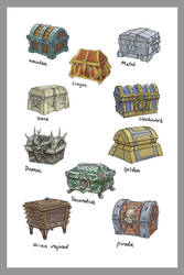 Treasure Chest Concepts by joeshawcross