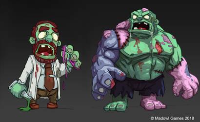 Scientist Zombie by joeshawcross