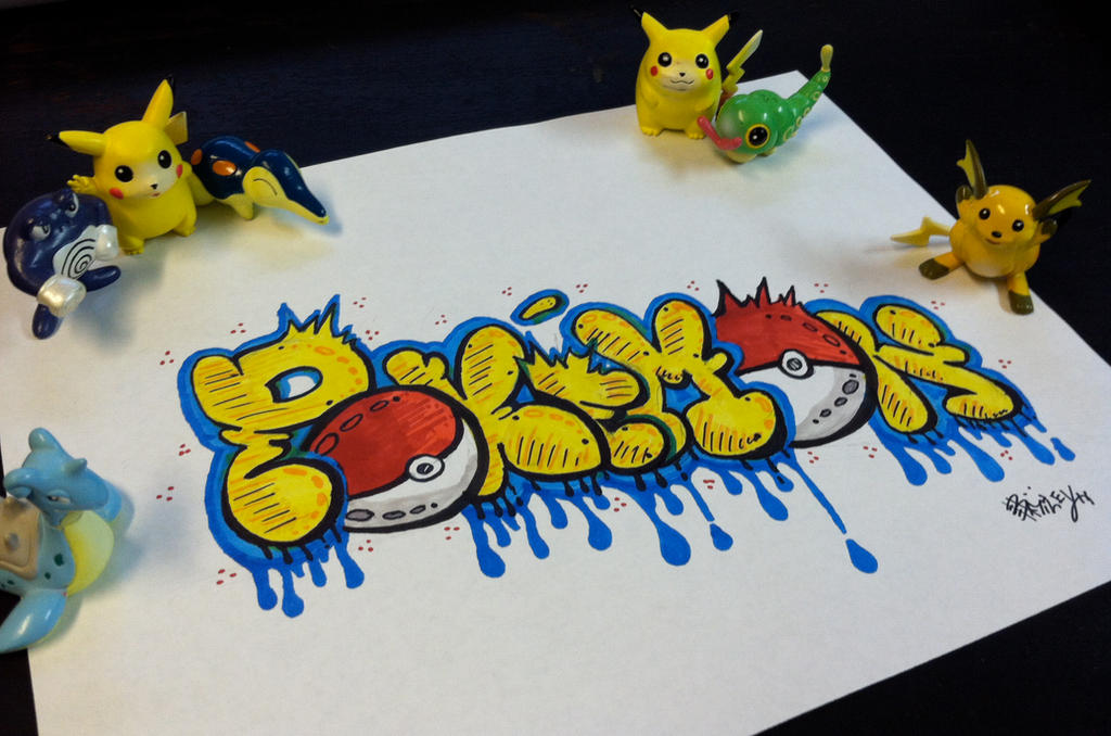 Pokemon Graffiti by Shinku15