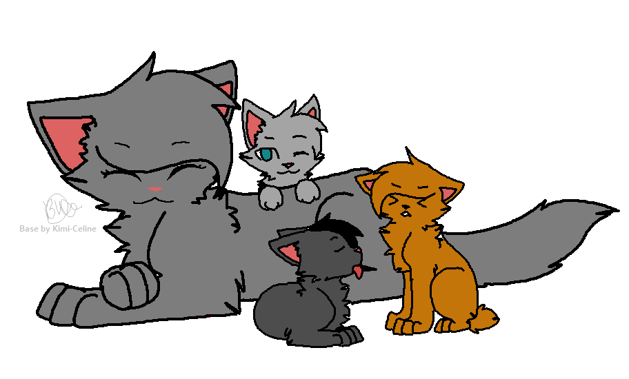 Warrior Cats in Love Lineart Warrior Cat Lineart Iceflower