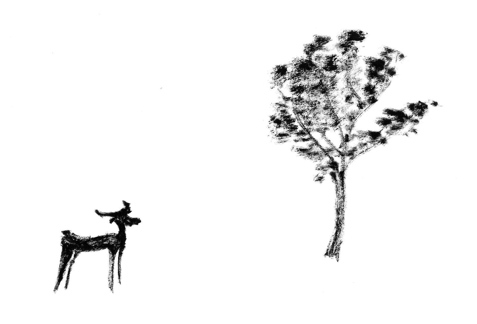 The deer and the tree