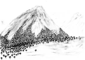 Snow line by AquaticWarbler