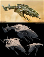 UNSC Sparrowhawk clay renders by Pynion