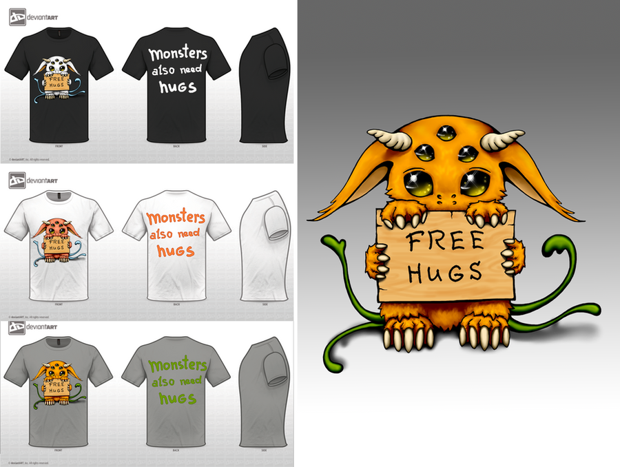 Monsters also need hugs by Ooyamaneko