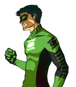 Kyle Rayner in process