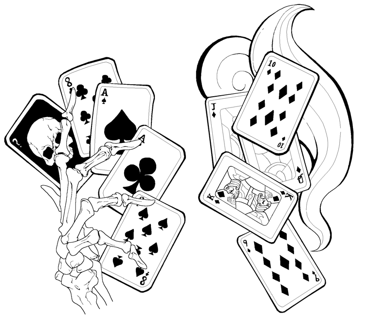 Line Art Card Design : Card tattoos by deadmansreel on deviantart