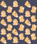 Psyduck pattern by MrJazzArt