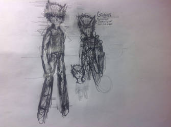 OC-Gogardi,Paranormal investigator from the moon by MrYolomolosreturn