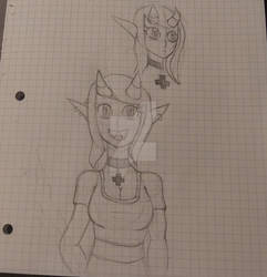 monster girl drawing