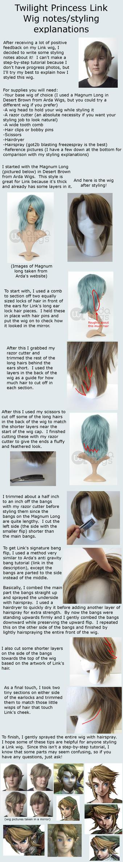 Twilight Princess Link wig styling notes by Rinkujutsu