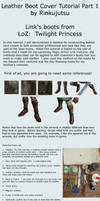 Leather Boot cover tutorial part 1 - TP Link boots by Rinkujutsu
