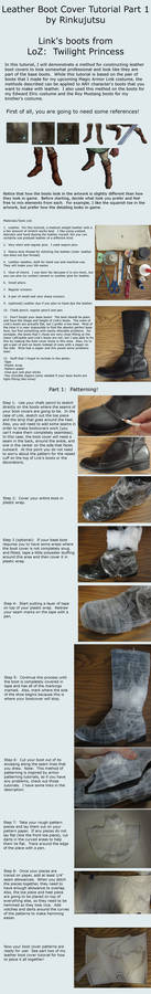 Leather Boot cover tutorial part 1 - TP Link boots