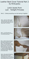 Leather boot cover tutorial part 2 - TP Link boots