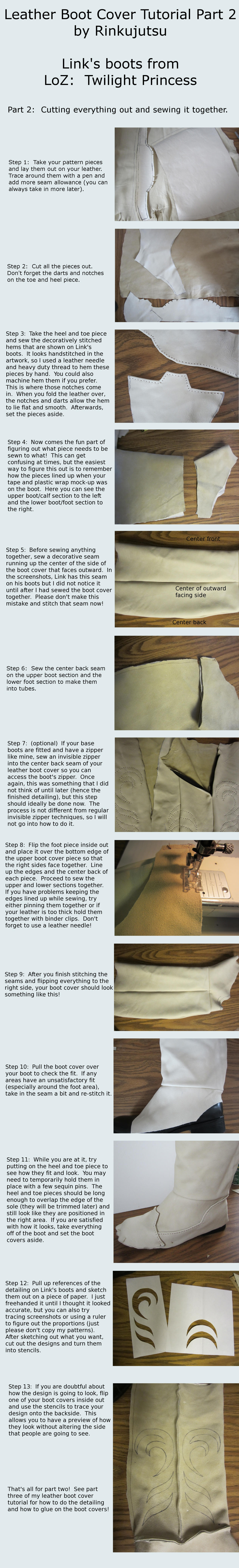 Leather Boot Cover Tutorial Part 2 Tp Link Boots By