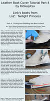 Leather boot cover tutorial part 4 - TP Link boots