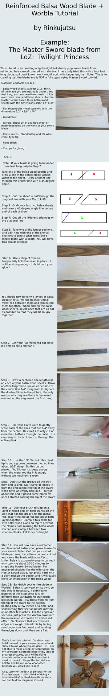 Reinforced Balsa Blade Tutorial - TP Master Sword by Rinkujutsu