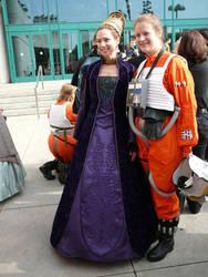 Senator Padme Purple gown episode II by locomotiva