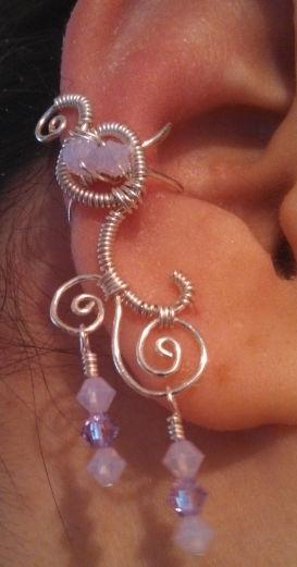 Violet/Violet Opal Ear Cuff