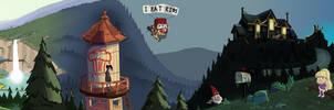 Gravity Falls Panorama