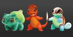 Realistic Original Pokemon Starters