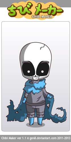 Chibi Maker Underswap Sans By Awsomethewolf