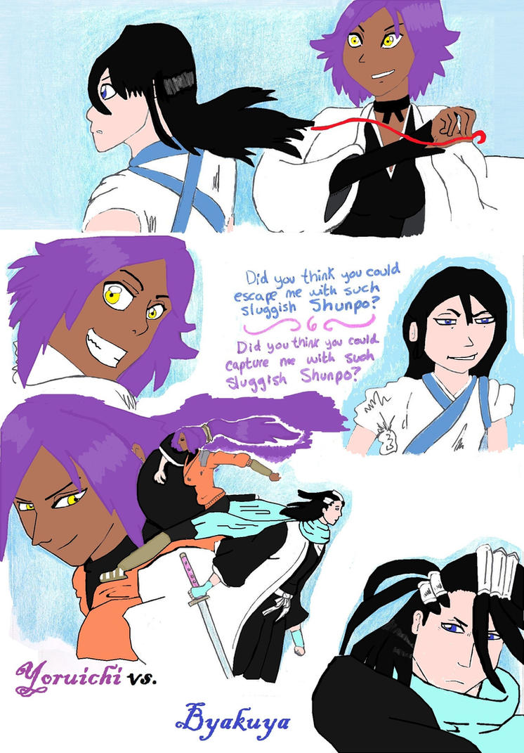 yoruichi and byakuya relationship questions