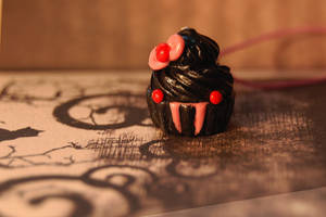 Little Miss Vampire Cupcake by FatCatCharms