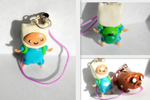 Adventure Time Finn and Jake Charms