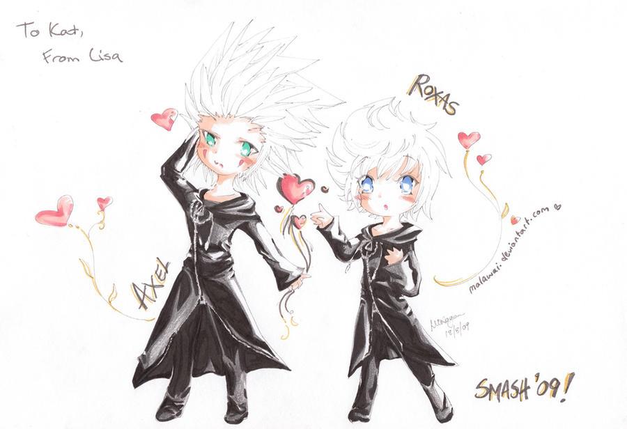 Kingdom hearts axel chibi